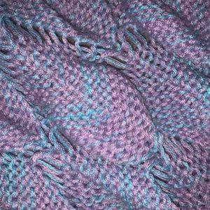 blue and purple mermaid tail blanket.